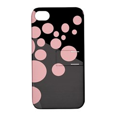 Pink dots Apple iPhone 4/4S Hardshell Case with Stand