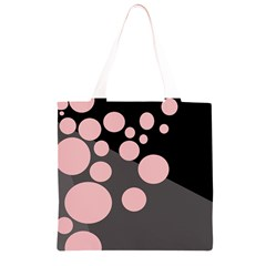 Pink dots Grocery Light Tote Bag