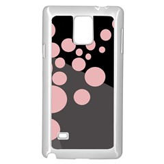 Pink dots Samsung Galaxy Note 4 Case (White)