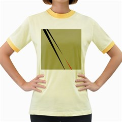 Elegant lines Women s Fitted Ringer T-Shirts