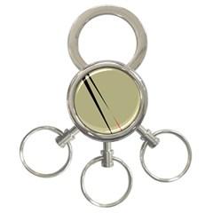 Elegant lines 3-Ring Key Chains