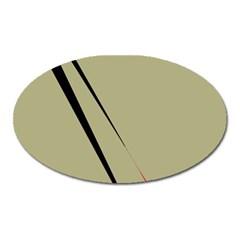 Elegant lines Oval Magnet
