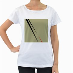Elegant lines Women s Loose-Fit T-Shirt (White)