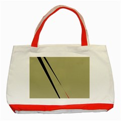 Elegant lines Classic Tote Bag (Red)
