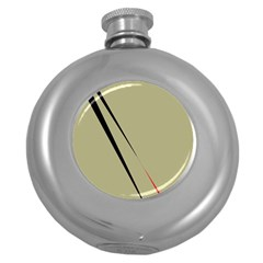 Elegant lines Round Hip Flask (5 oz)