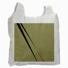 Elegant lines Recycle Bag (One Side)
