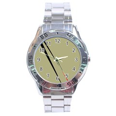 Elegant lines Stainless Steel Analogue Watch