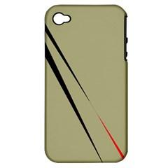 Elegant lines Apple iPhone 4/4S Hardshell Case (PC+Silicone)
