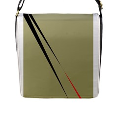 Elegant lines Flap Messenger Bag (L)