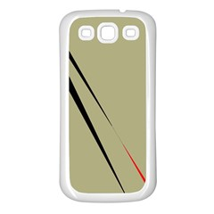 Elegant lines Samsung Galaxy S3 Back Case (White)