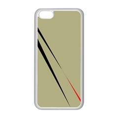 Elegant lines Apple iPhone 5C Seamless Case (White)