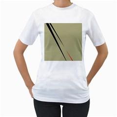 Elegant lines Women s T-Shirt (White)