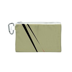 Elegant lines Canvas Cosmetic Bag (S)