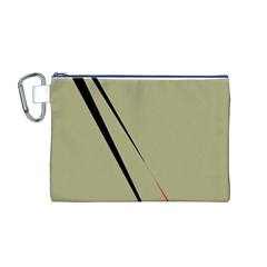 Elegant lines Canvas Cosmetic Bag (M)