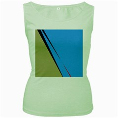 Elegant lines Women s Green Tank Top