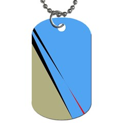 Elegant lines Dog Tag (One Side)