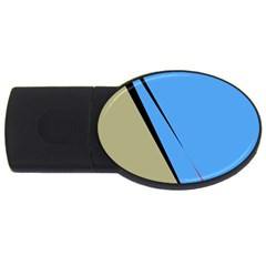 Elegant lines USB Flash Drive Oval (1 GB)