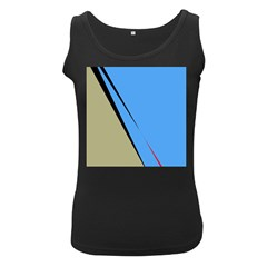 Elegant lines Women s Black Tank Top