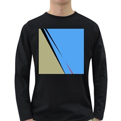 Elegant lines Long Sleeve Dark T-Shirts