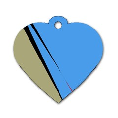Elegant lines Dog Tag Heart (Two Sides)