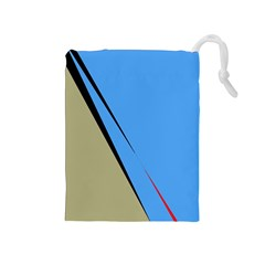 Elegant lines Drawstring Pouches (Medium)
