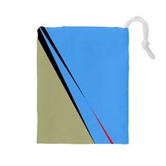 Elegant lines Drawstring Pouches (Large)
