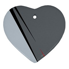 Elegant gray Ornament (Heart)