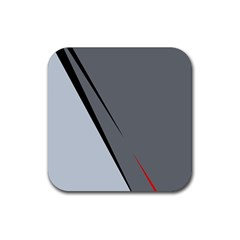Elegant gray Rubber Square Coaster (4 pack)