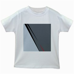 Elegant gray Kids White T-Shirts