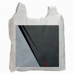 Elegant gray Recycle Bag (One Side)