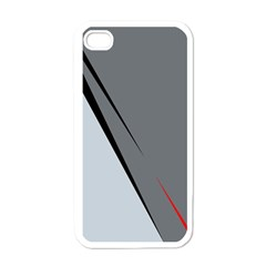 Elegant gray Apple iPhone 4 Case (White)