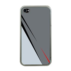 Elegant gray Apple iPhone 4 Case (Clear)