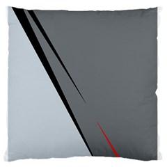 Elegant gray Large Flano Cushion Case (Two Sides)