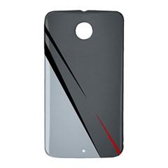 Elegant gray Nexus 6 Case (White)