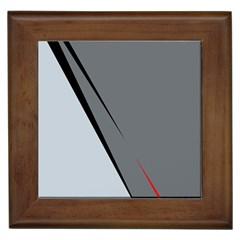 Elegant Gray Framed Tiles