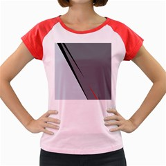 Elegant gray Women s Cap Sleeve T-Shirt