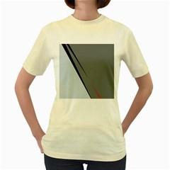 Elegant gray Women s Yellow T-Shirt