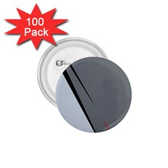 Elegant gray 1.75  Buttons (100 pack)