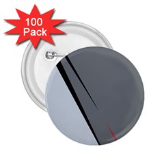Elegant gray 2.25  Buttons (100 pack)