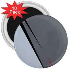 Elegant gray 3  Magnets (10 pack)