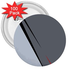 Elegant gray 3  Buttons (100 pack)
