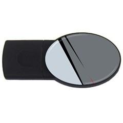 Elegant gray USB Flash Drive Oval (2 GB)