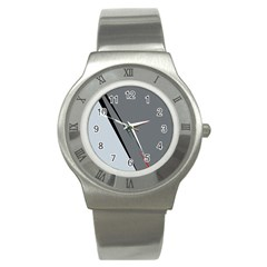 Elegant gray Stainless Steel Watch