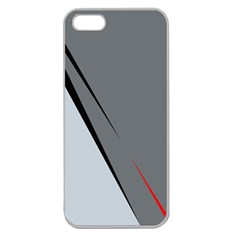 Elegant gray Apple Seamless iPhone 5 Case (Clear)