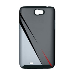 Elegant gray Samsung Galaxy Note 2 Hardshell Case (PC+Silicone)