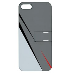 Elegant gray Apple iPhone 5 Hardshell Case with Stand