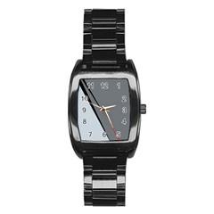 Elegant gray Stainless Steel Barrel Watch