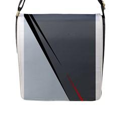 Elegant gray Flap Messenger Bag (L)