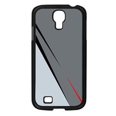 Elegant gray Samsung Galaxy S4 I9500/ I9505 Case (Black)