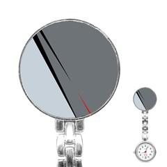 Elegant gray Stainless Steel Nurses Watch